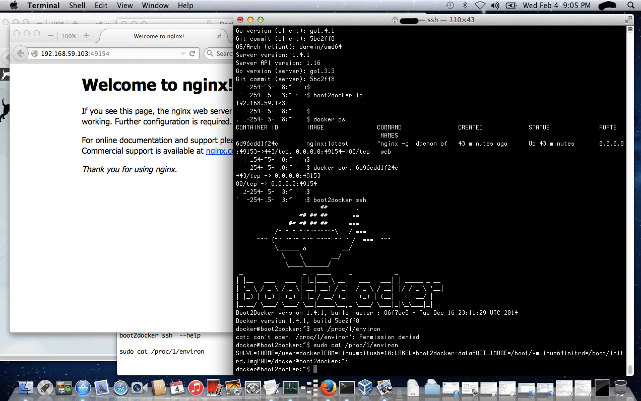 Click to view larger image in new window. Docker on MAC OS X, Web Server